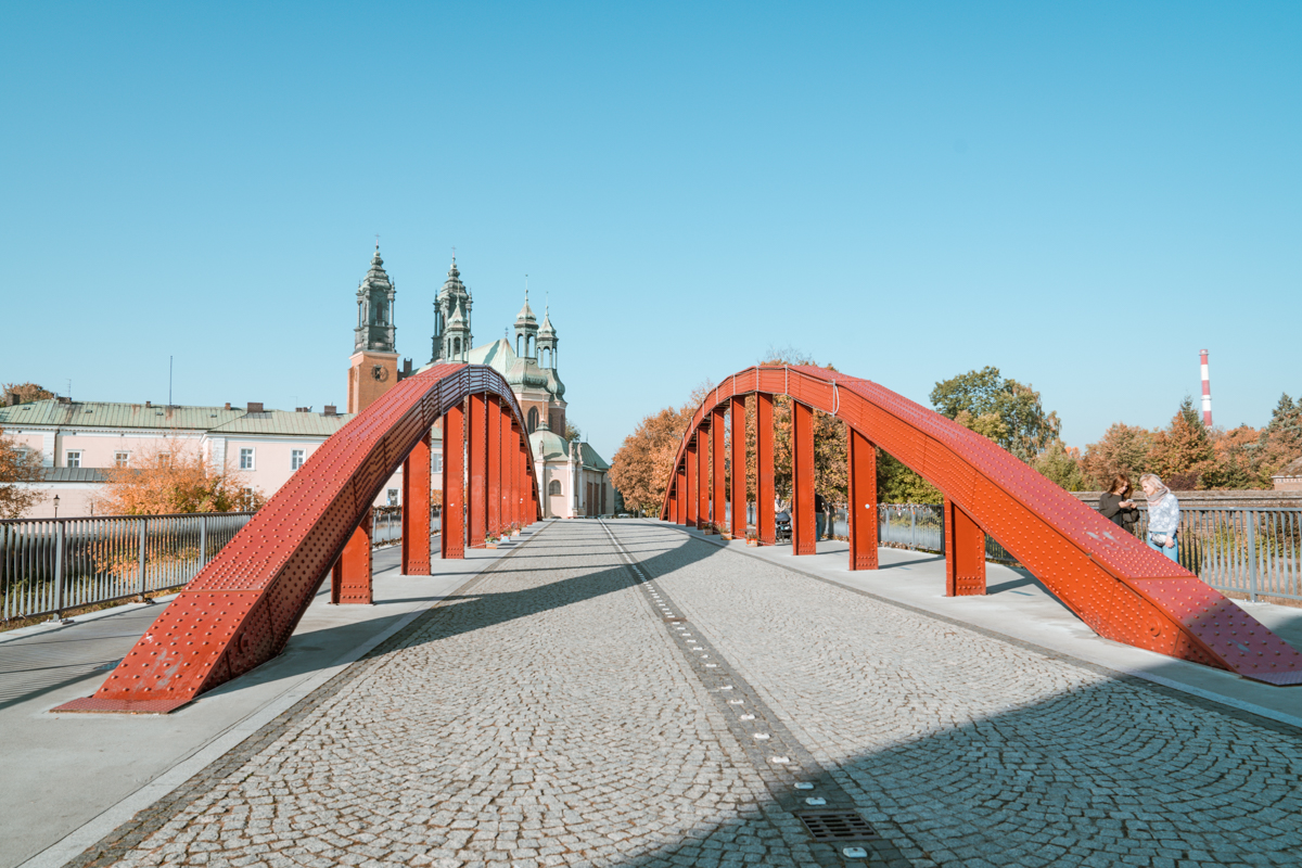 Jordan Bridge red metal bridge poznan