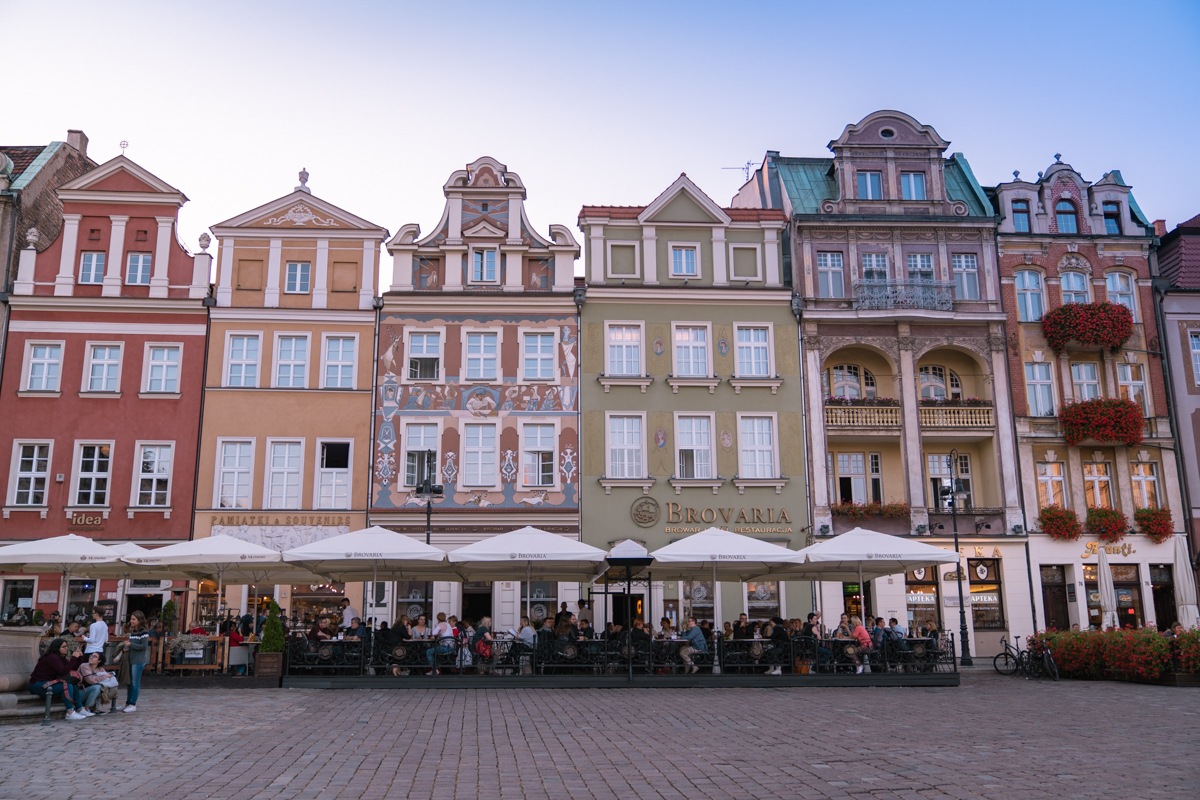Poznan Old Town market square