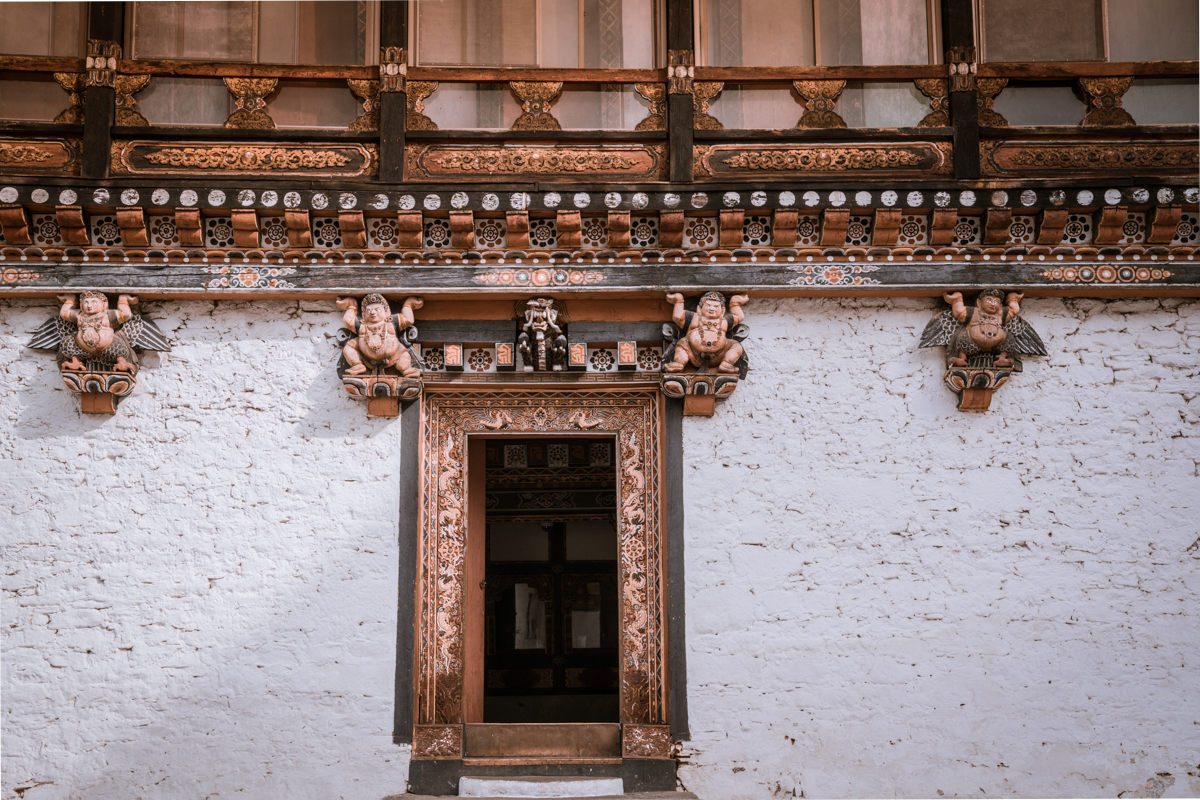 details of Bhutan doors