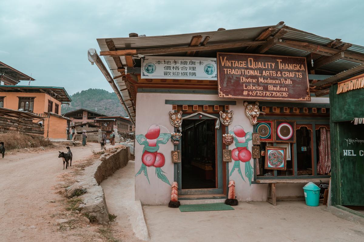 Phallic symbols Punakha Bhutan