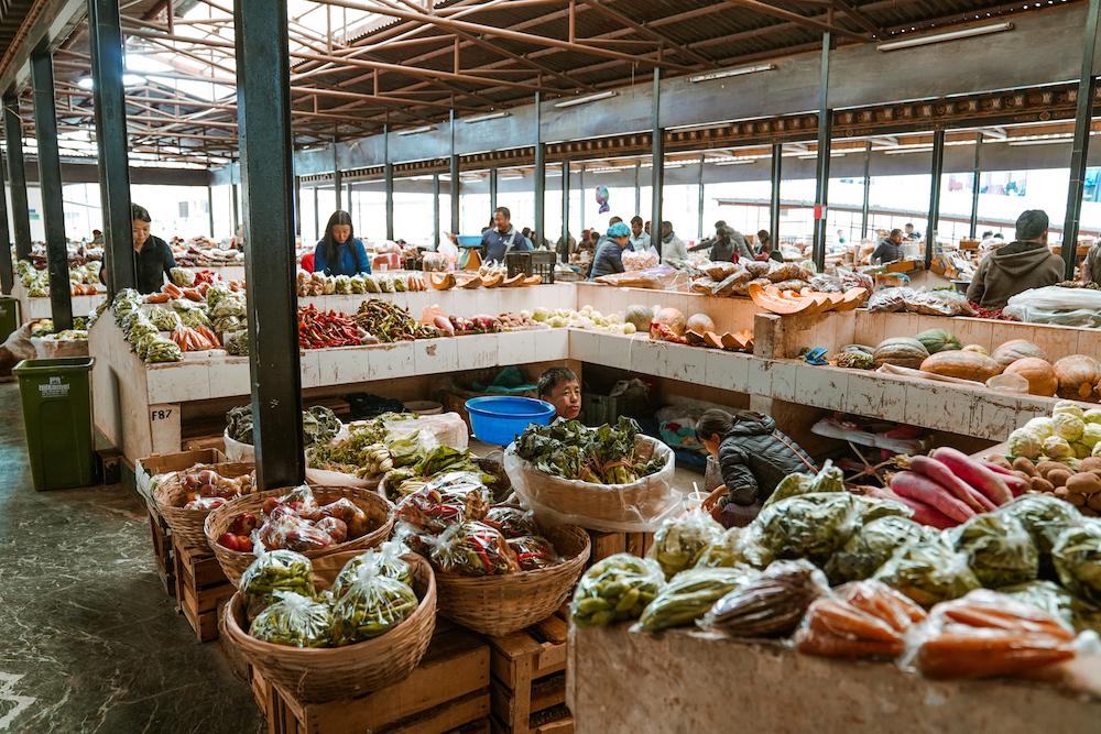 Centenary Farmers' market Thimphu Bhutan