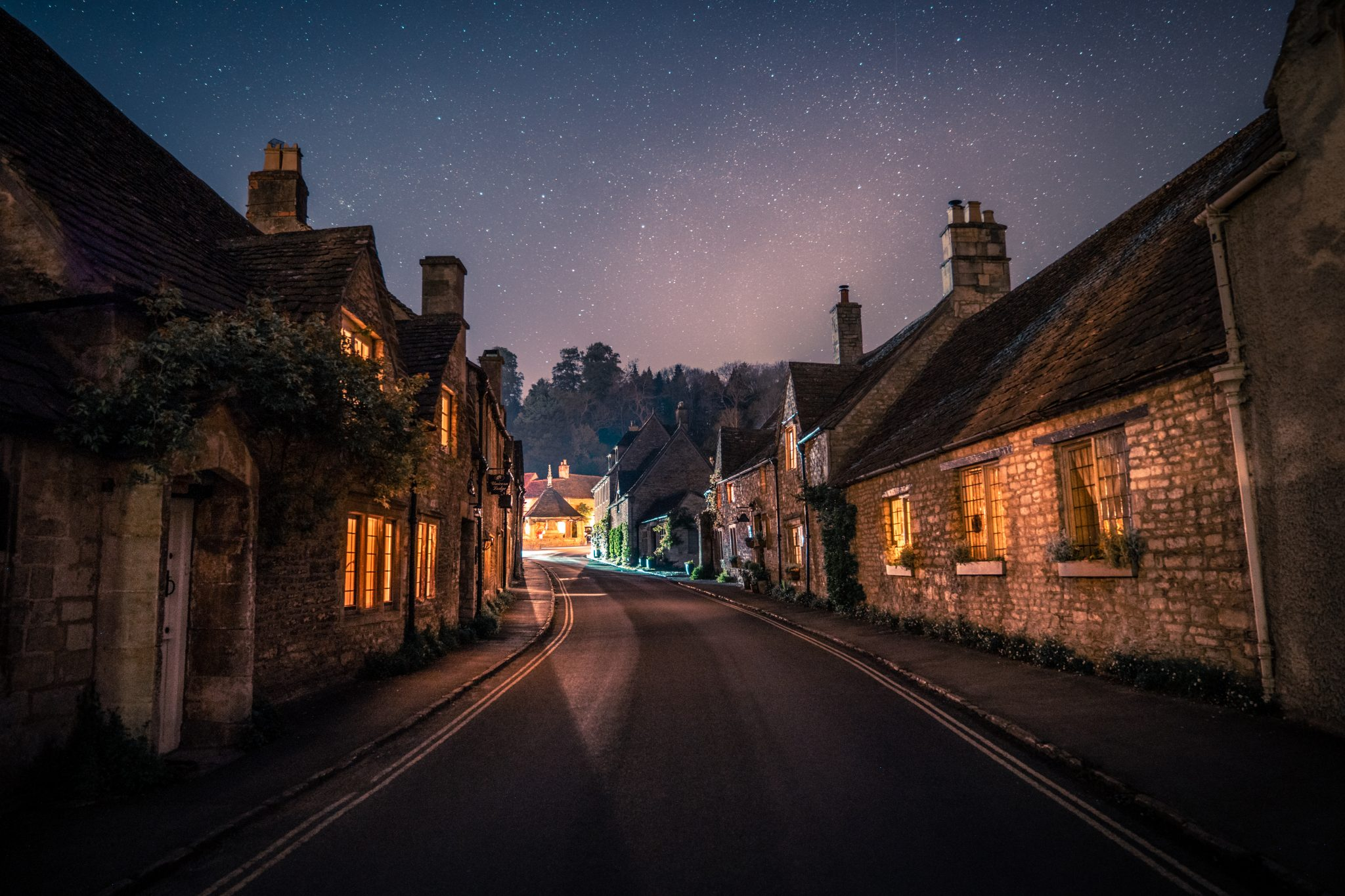 Castle Combe fairy tale night shot