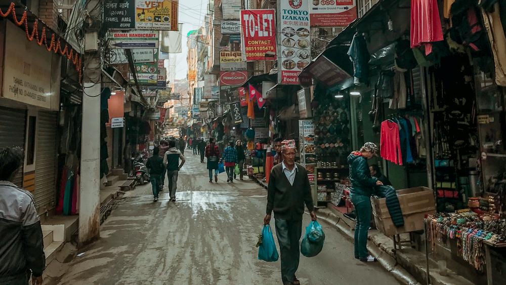 Thamel streets Kathmandu