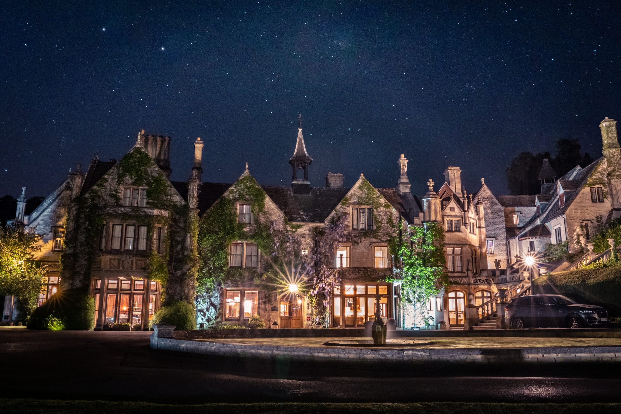 The Manor House night shot Castle Combe