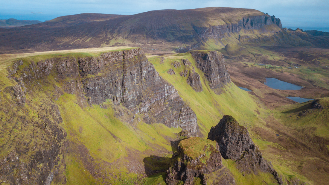 Quiraing Isle of Skye drone view