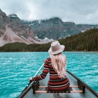 Moraine Lake Canoeing