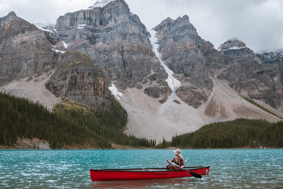 Canoeing Moraine Lake