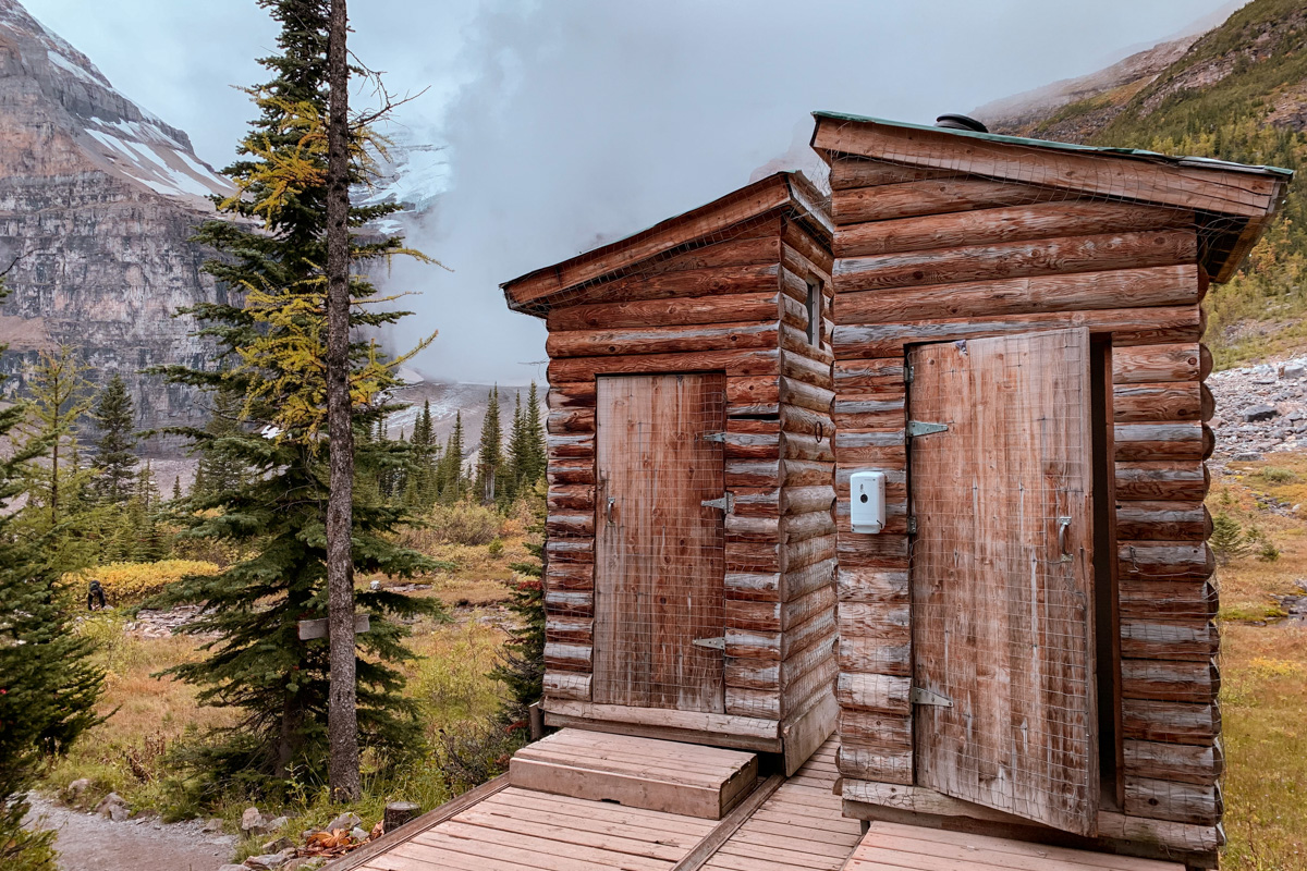 outhouses Plain of Six Glaciers Lake Louise