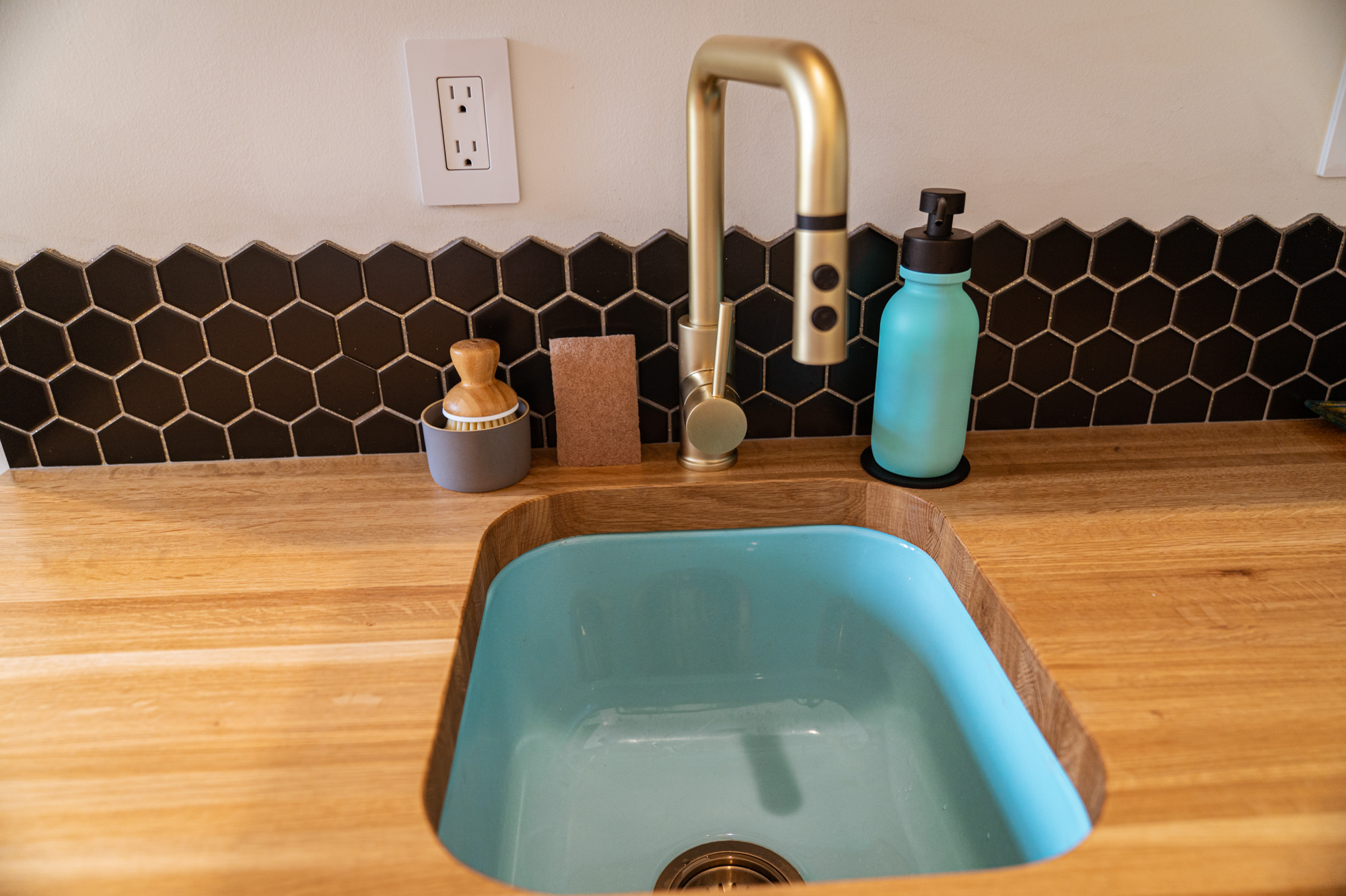 turquoise sink